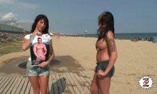Casting sur la plage pour trouver une salope